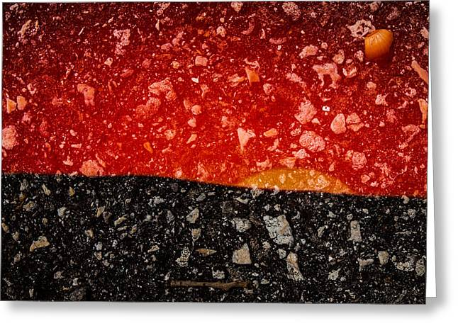 Sunset In Stone Greeting Card