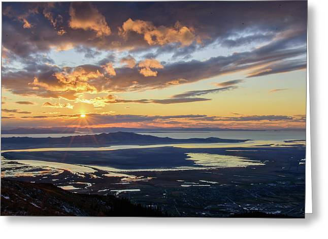 Greeting Card featuring the photograph Sunset In The Desert by Bryan Carter
