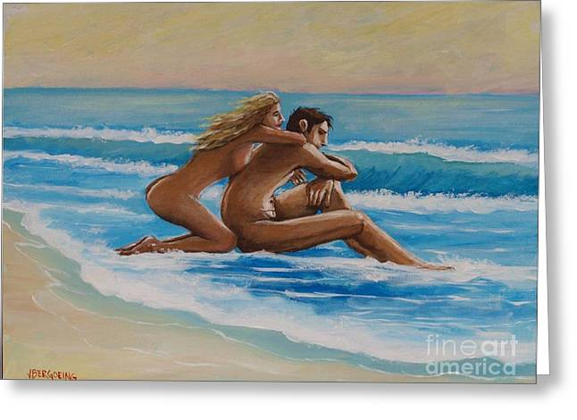 Sunset In The Beach Greeting Card