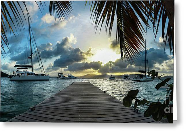 Sunset In The Bvi Greeting Card