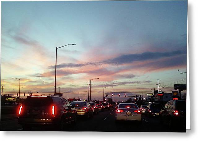 Greeting Card featuring the photograph Sunset In The City 2 by Diane Ferguson