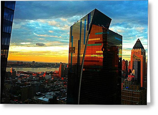 Sunset In The City Greeting Card by Lisa  Esposito