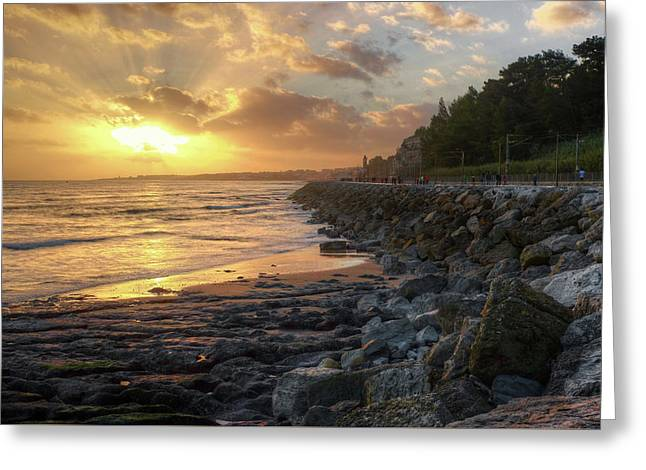 Greeting Card featuring the photograph Sunset In The Coast by Carlos Caetano