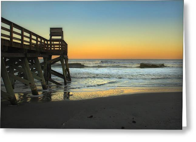 Greeting Card featuring the photograph Sunset In The East by Linda Olsen