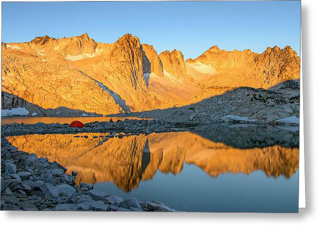 Sunset In The Enchantments Greeting Card