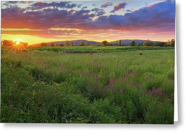 Greeting Card featuring the photograph Sunset In The Hills 2017 by Bill Wakeley