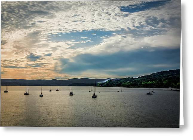 Sunset In The Hudson Valley Greeting Card