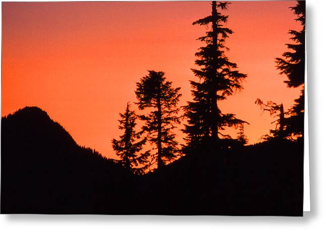 Greeting Card featuring the photograph Sunset In The Mountains 2 by Lyle Crump
