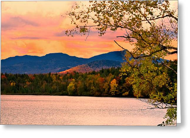 Sunset In The Mountains Greeting Card by Brad Hoyt