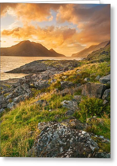 Greeting Card featuring the photograph Sunset In The North by Maciej Markiewicz