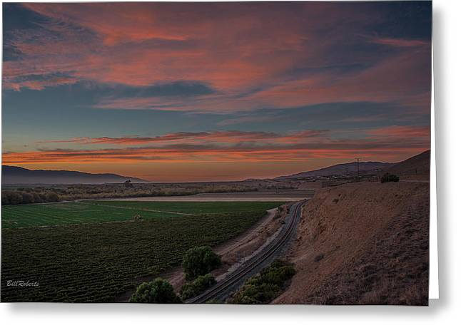 Sunset In The Salinas Valley Greeting Card by Bill Roberts