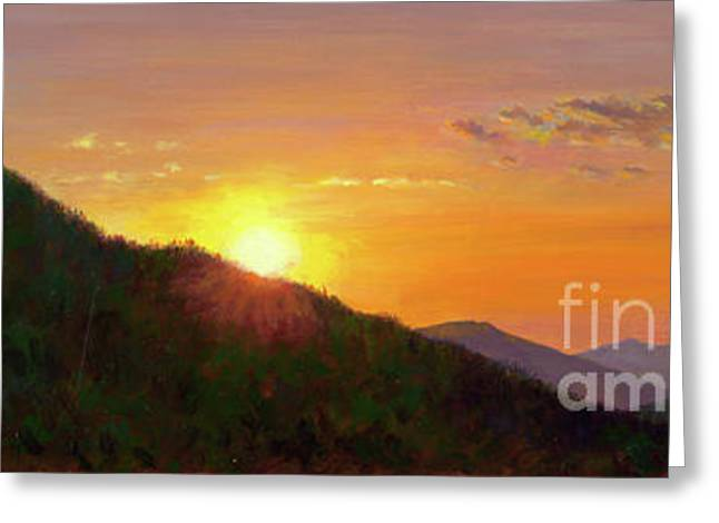 Sunset In The Smokies Greeting Card by Christa Eppinghaus