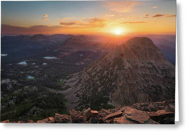 Sunset In The Uinta Mountains Greeting Card