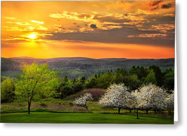 Sunset In Tioga County Pa Greeting Card