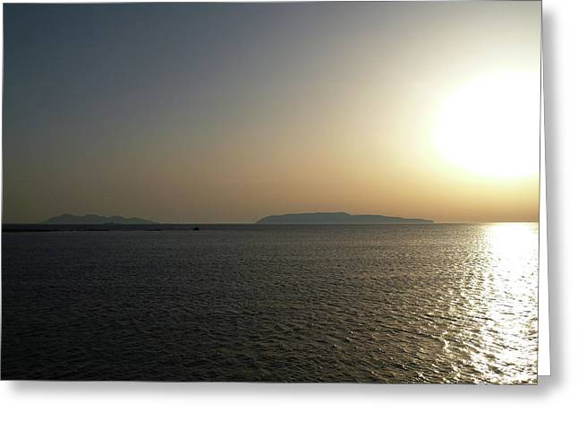 Sunset In Trapani Greeting Card