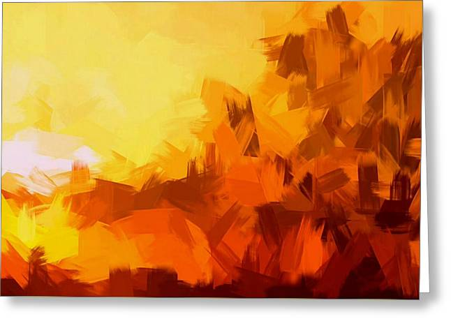 Sunset In Valhalla Greeting Card