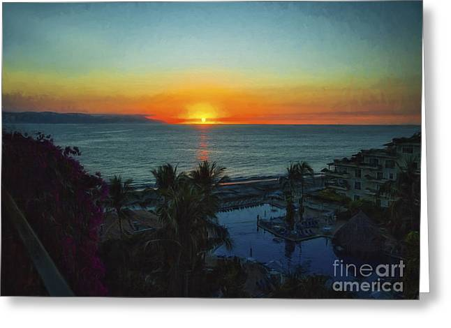 Sunset In Vallarta  ... Greeting Card