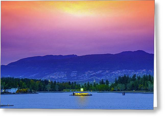 Sunset In Vancouver  Greeting Card by Art Spectrum