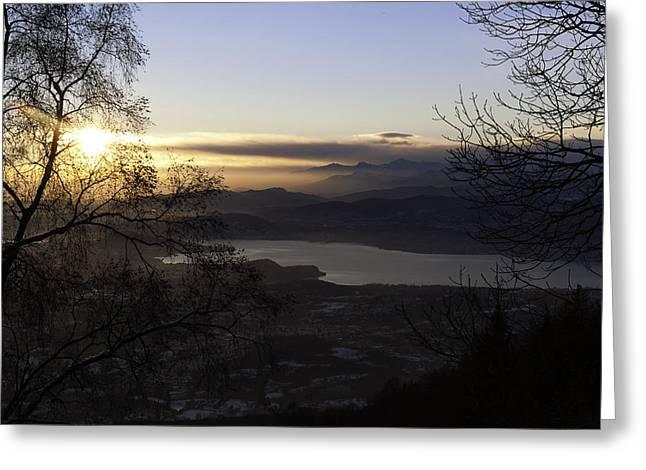 Sunset In Varese Greeting Card