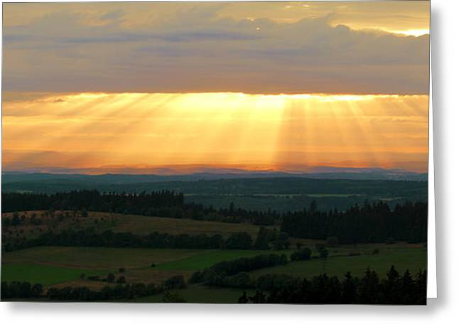 Sunset In Vogelsberg Greeting Card