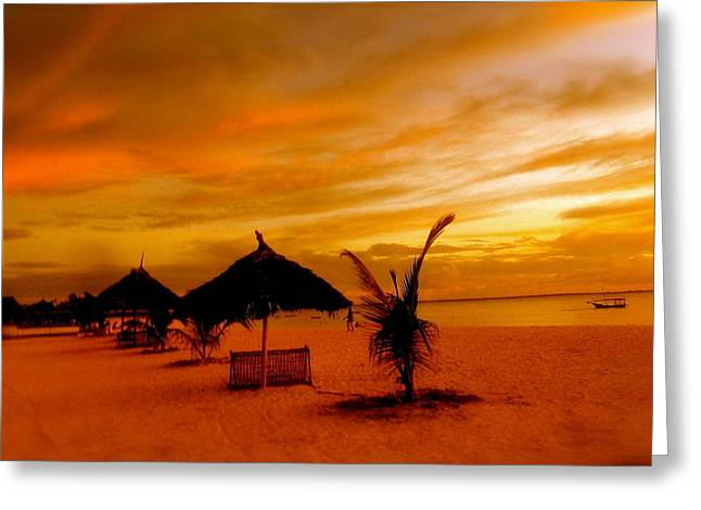Sunset In Zanzibar Greeting Card by Joe  Burns