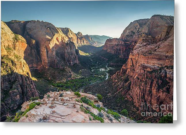 Sunset In Zion National Park Greeting Card by JR Photography