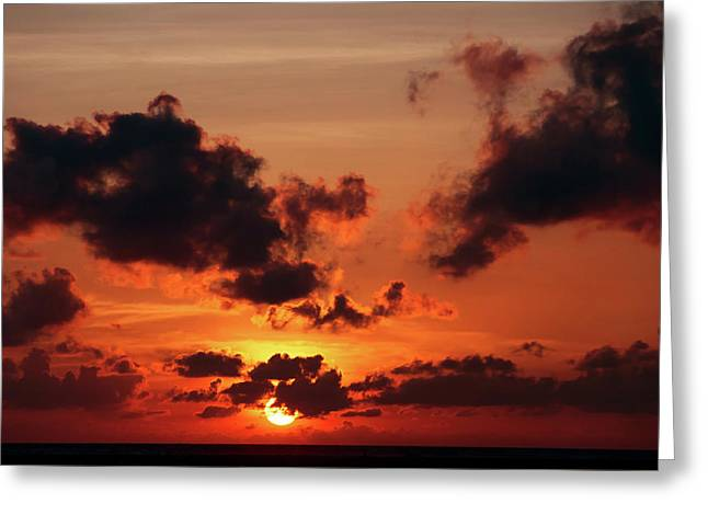 Greeting Card featuring the photograph Sunset Inspiration by Jenny Rainbow