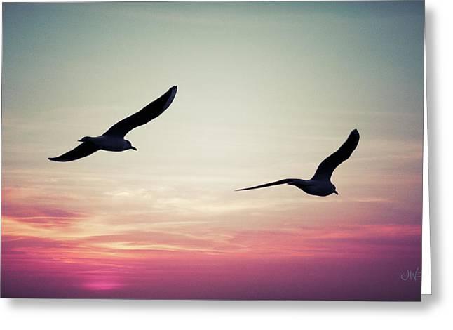 Sunset Greeting Card by Joseph Westrupp