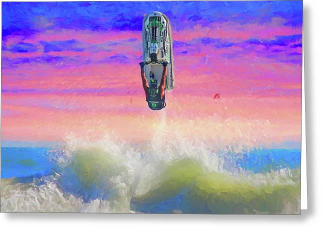 Sunset Jumper Greeting Card by Alice Gipson