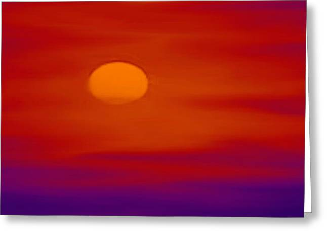 Sunset Greeting Card by Karen Conine