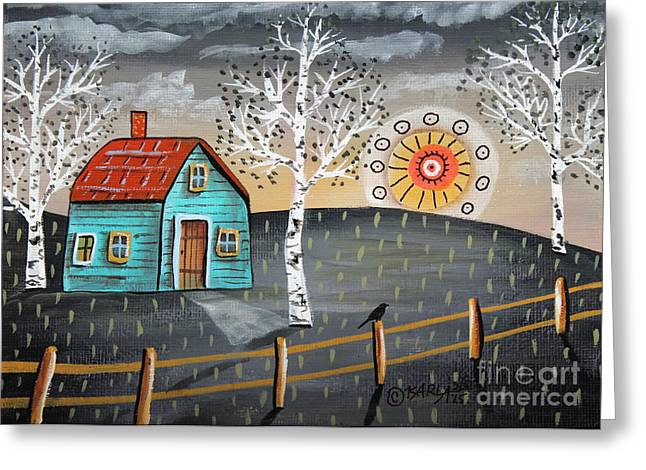 Sunset Greeting Card by Karla Gerard