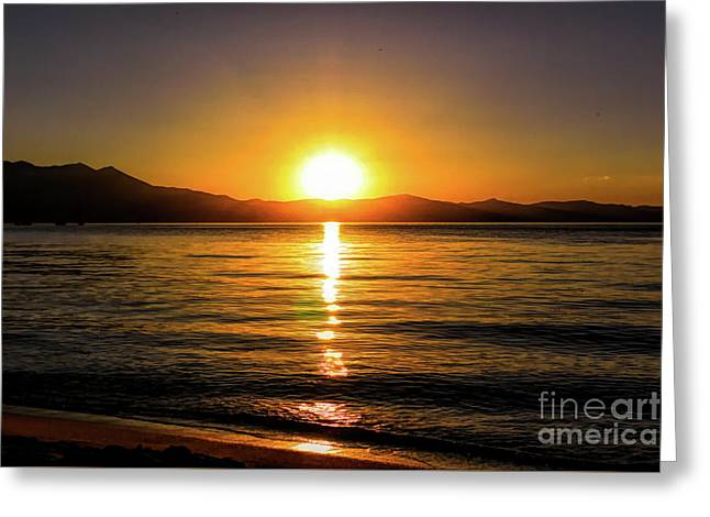 Sunset Lake 1 Greeting Card