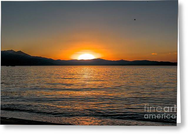 Sunset Lake 3 Greeting Card