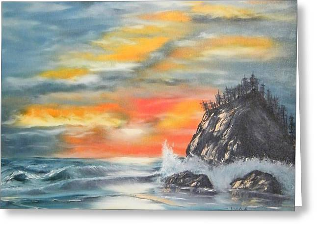 Sunset Greeting Card by Larry Doyle