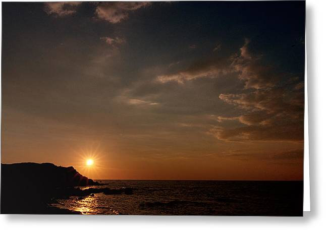 Greeting Card featuring the photograph Sunset   by Laura Melis