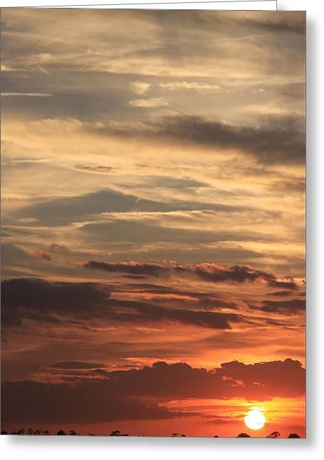 Sunset Layers Greeting Card by AR Annahita