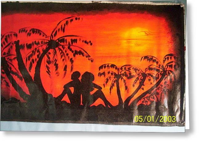 Sunset Love Greeting Card by Derick  nana  mbrah