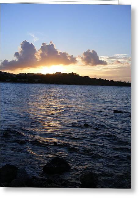 Sunset Magic Sapphire Beach Virgin Islands Greeting Card