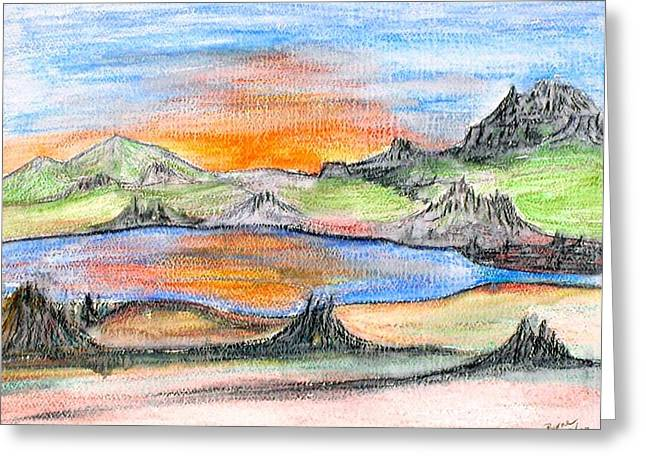 Sunset Greeting Card by Margie  Byrne