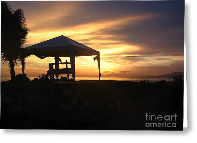 Sunset Massage Greeting Card