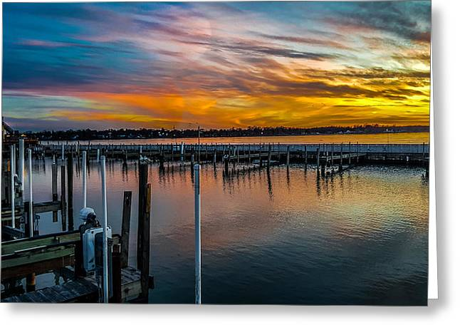 Sunset Masterpiece  Greeting Card by Carlos Ruiz