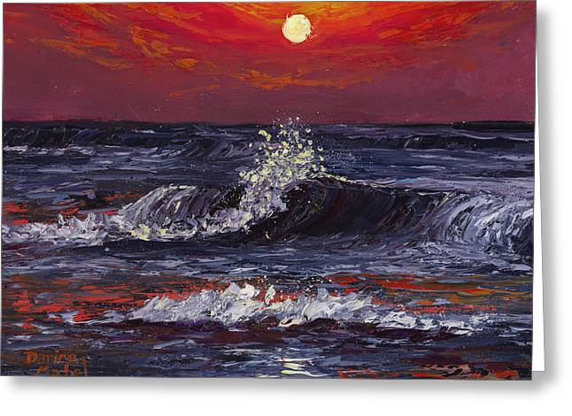 Greeting Card featuring the painting Sunset Melody  by Darice Machel McGuire