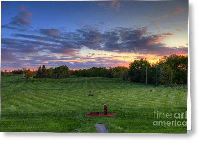 Sunset Minnesota National Golf Course Championship Course Greeting Card