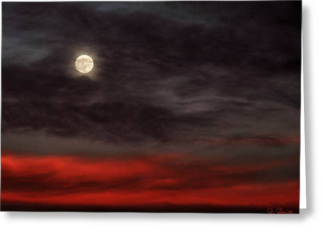 Sunset Moon Greeting Card