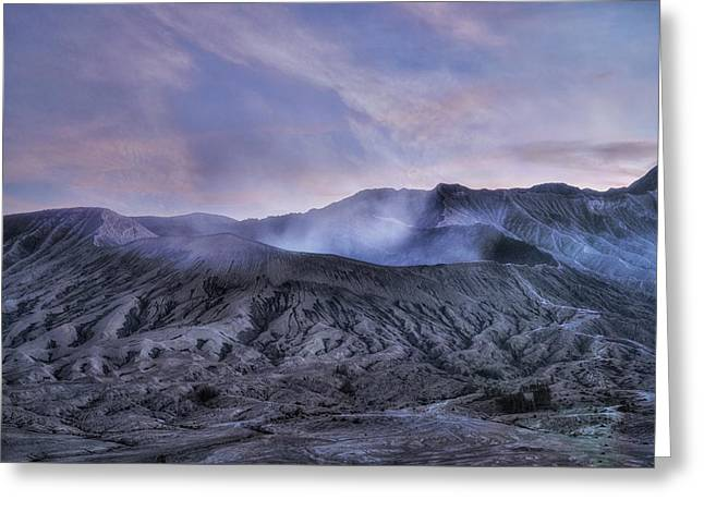 sunset Mount Bromo - Java Greeting Card