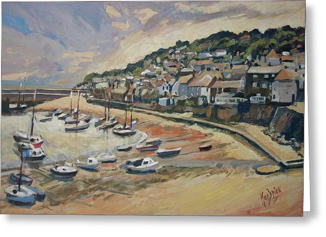 Sunset Mousehole Greeting Card