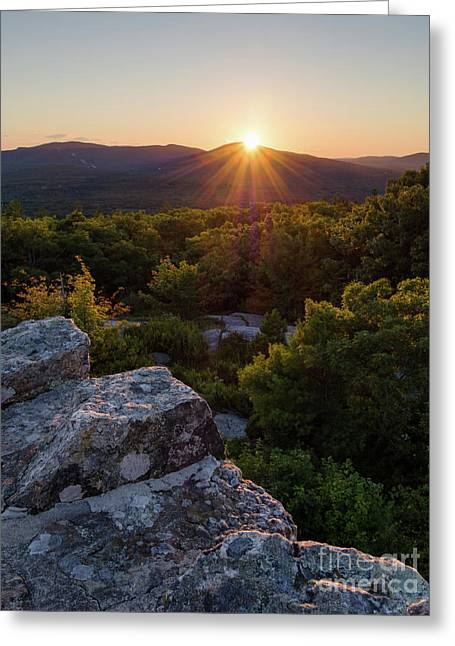 Sunset, Mt. Battie, Camden, Maine 33788-33791 Greeting Card