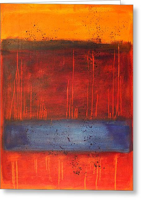 Sunset Greeting Card by Nancy Merkle