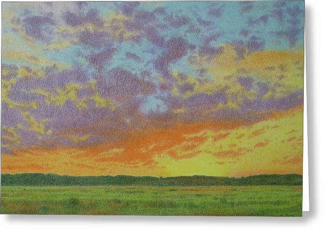 Sunset Near Miles City Greeting Card