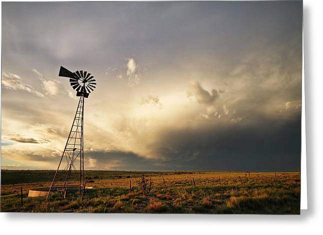 Sunset Near Santa Rosa New Mexico Greeting Card